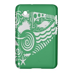 Fish Star Green Samsung Galaxy Tab 2 (7 ) P3100 Hardshell Case  by Alisyart