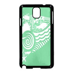Fish Star Green Samsung Galaxy Note 3 Neo Hardshell Case (black) by Alisyart