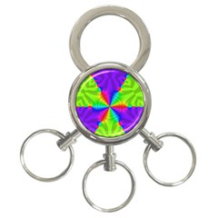 Complex Beauties Color Line Tie Purple Green Light 3 Ring Key Chains