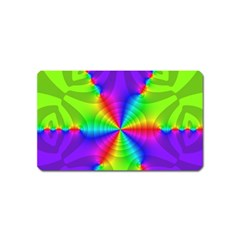 Complex Beauties Color Line Tie Purple Green Light Magnet (name Card) by Alisyart