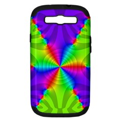 Complex Beauties Color Line Tie Purple Green Light Samsung Galaxy S Iii Hardshell Case (pc+silicone) by Alisyart