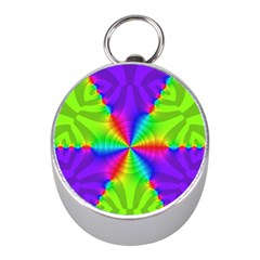 Complex Beauties Color Line Tie Purple Green Light Mini Silver Compasses
