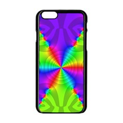 Complex Beauties Color Line Tie Purple Green Light Apple Iphone 6/6s Black Enamel Case by Alisyart