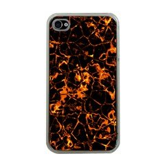 Fiery Ground Apple Iphone 4 Case (clear) by Alisyart