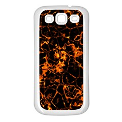 Fiery Ground Samsung Galaxy S3 Back Case (white) by Alisyart