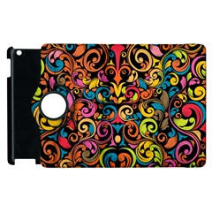 Chisel Carving Leaf Flower Color Rainbow Apple Ipad 2 Flip 360 Case by Alisyart