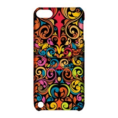 Chisel Carving Leaf Flower Color Rainbow Apple Ipod Touch 5 Hardshell Case With Stand by Alisyart