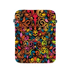 Chisel Carving Leaf Flower Color Rainbow Apple Ipad 2/3/4 Protective Soft Cases by Alisyart