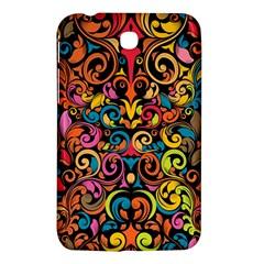 Chisel Carving Leaf Flower Color Rainbow Samsung Galaxy Tab 3 (7 ) P3200 Hardshell Case  by Alisyart