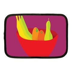 Fruitbowl Llustrations Fruit Banana Orange Guava Netbook Case (medium)  by Alisyart