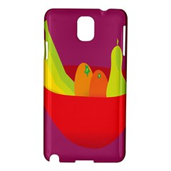 Fruitbowl Llustrations Fruit Banana Orange Guava Samsung Galaxy Note 3 N9005 Hardshell Case by Alisyart