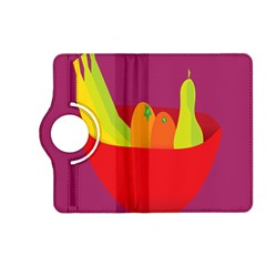 Fruitbowl Llustrations Fruit Banana Orange Guava Kindle Fire Hd (2013) Flip 360 Case by Alisyart