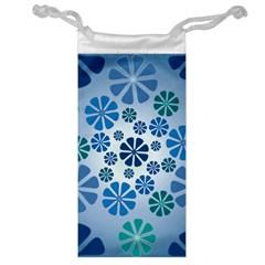 Geometric Flower Stair Jewelry Bag by Alisyart