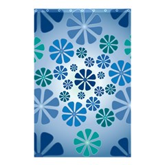 Geometric Flower Stair Shower Curtain 48  X 72  (small)  by Alisyart