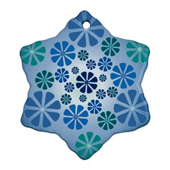 Geometric Flower Stair Ornament (snowflake) by Alisyart