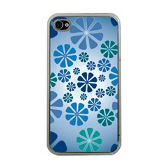 Geometric Flower Stair Apple Iphone 4 Case (clear) by Alisyart