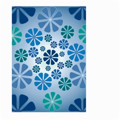 Geometric Flower Stair Large Garden Flag (two Sides) by Alisyart