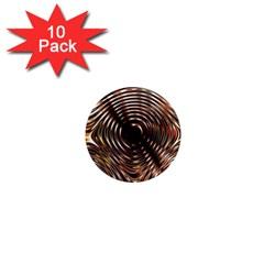 Gold Waves Circles Water Wave Circle Rings 1  Mini Magnet (10 Pack)  by Alisyart