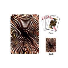 Gold Waves Circles Water Wave Circle Rings Playing Cards (mini)  by Alisyart
