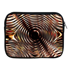 Gold Waves Circles Water Wave Circle Rings Apple Ipad 2/3/4 Zipper Cases by Alisyart
