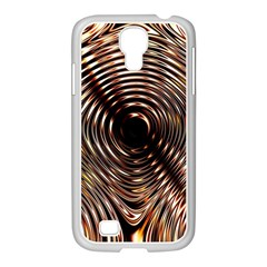 Gold Waves Circles Water Wave Circle Rings Samsung Galaxy S4 I9500/ I9505 Case (white) by Alisyart