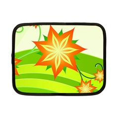 Graphics Summer Flower Floral Sunflower Star Orange Green Yellow Netbook Case (small)  by Alisyart