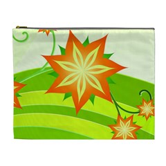 Graphics Summer Flower Floral Sunflower Star Orange Green Yellow Cosmetic Bag (xl) by Alisyart