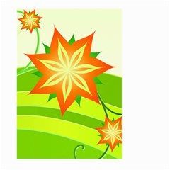 Graphics Summer Flower Floral Sunflower Star Orange Green Yellow Large Garden Flag (two Sides) by Alisyart