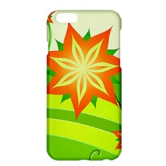 Graphics Summer Flower Floral Sunflower Star Orange Green Yellow Apple Iphone 6 Plus/6s Plus Hardshell Case by Alisyart