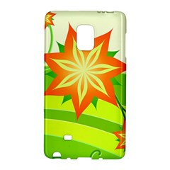 Graphics Summer Flower Floral Sunflower Star Orange Green Yellow Galaxy Note Edge by Alisyart