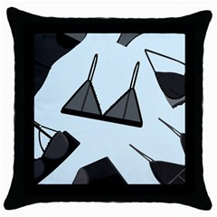 Grown Ups Guide To Underwear Opener Black Blue Throw Pillow Case (black) by Alisyart