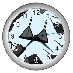 Grown Ups Guide To Underwear Opener Black Blue Wall Clocks (silver)  by Alisyart