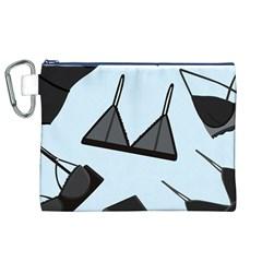 Grown Ups Guide To Underwear Opener Black Blue Canvas Cosmetic Bag (xl) by Alisyart