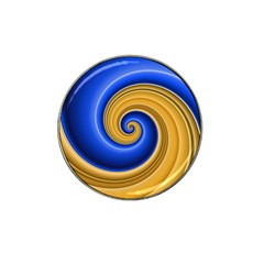Golden Spiral Gold Blue Wave Hat Clip Ball Marker (10 Pack) by Alisyart