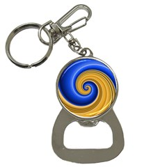 Golden Spiral Gold Blue Wave Button Necklaces by Alisyart