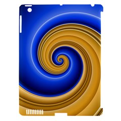 Golden Spiral Gold Blue Wave Apple Ipad 3/4 Hardshell Case (compatible With Smart Cover) by Alisyart