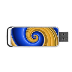 Golden Spiral Gold Blue Wave Portable Usb Flash (one Side) by Alisyart
