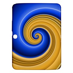 Golden Spiral Gold Blue Wave Samsung Galaxy Tab 3 (10 1 ) P5200 Hardshell Case  by Alisyart