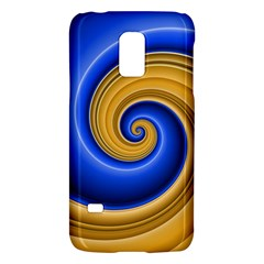 Golden Spiral Gold Blue Wave Galaxy S5 Mini by Alisyart
