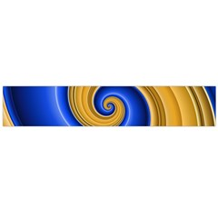 Golden Spiral Gold Blue Wave Flano Scarf (large) by Alisyart