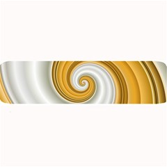Golden Spiral Gold White Wave Large Bar Mats by Alisyart