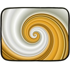 Golden Spiral Gold White Wave Double Sided Fleece Blanket (mini)  by Alisyart