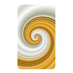Golden Spiral Gold White Wave Memory Card Reader by Alisyart