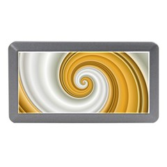 Golden Spiral Gold White Wave Memory Card Reader (mini) by Alisyart