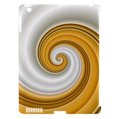 Golden Spiral Gold White Wave Apple Ipad 3/4 Hardshell Case (compatible With Smart Cover) by Alisyart