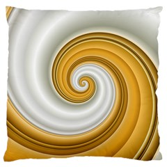 Golden Spiral Gold White Wave Large Cushion Case (two Sides) by Alisyart