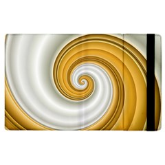 Golden Spiral Gold White Wave Apple Ipad 3/4 Flip Case by Alisyart