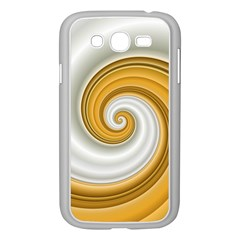 Golden Spiral Gold White Wave Samsung Galaxy Grand Duos I9082 Case (white) by Alisyart