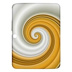 Golden Spiral Gold White Wave Samsung Galaxy Tab 3 (10 1 ) P5200 Hardshell Case  by Alisyart
