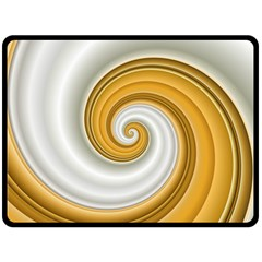 Golden Spiral Gold White Wave Double Sided Fleece Blanket (large)  by Alisyart